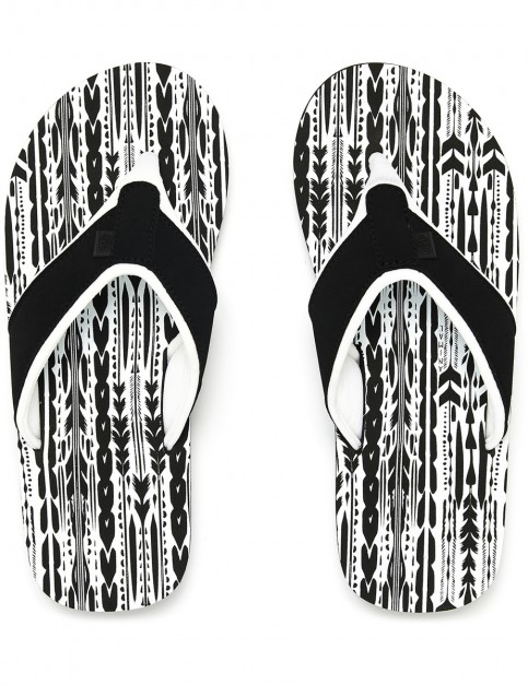 Animal Swish AOP Flip Flops in Black