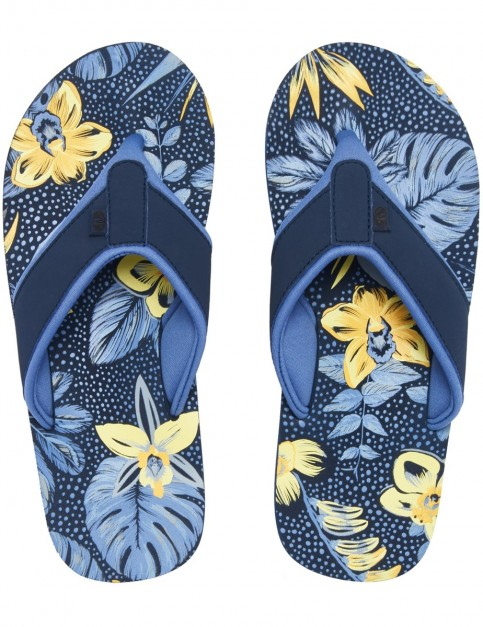Animal Swish AOP Flip Flops in Dark Navy