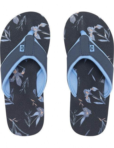 Animal Swish AOP Flip Flops in India Ink Blue
