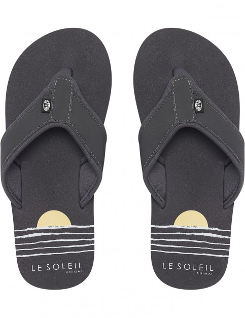 Animal Swish Beach Flip Flops in Black