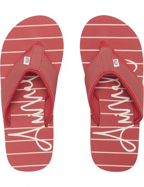 Animal Swish Beach Flip Flops in Stripes