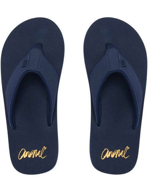 Animal Swish Block Flip Flops in Dark Navy