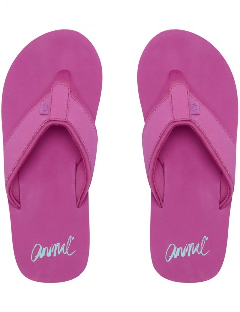 Animal Swish Block Flip Flops in Orchid Purple