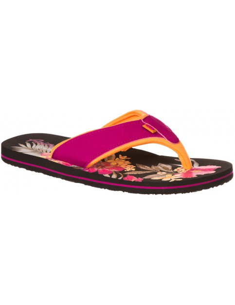 Animal Swish Placement Flip Flops in Indian Berry Pink