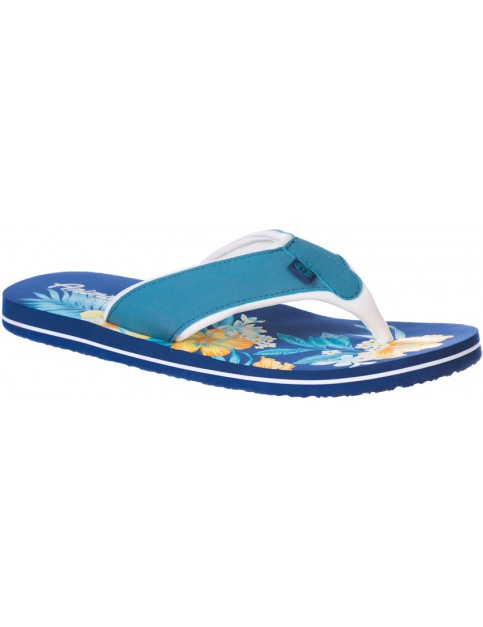 Animal Swish Placement Flip Flops in Sea Blue