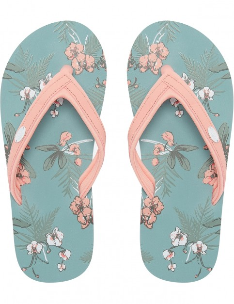 Animal Swish Slim AOP Flip Flops in Blue Haze