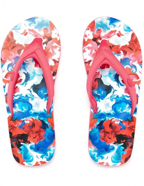 Animal Swish Slim AOP Flip Flops in Paradise Pink