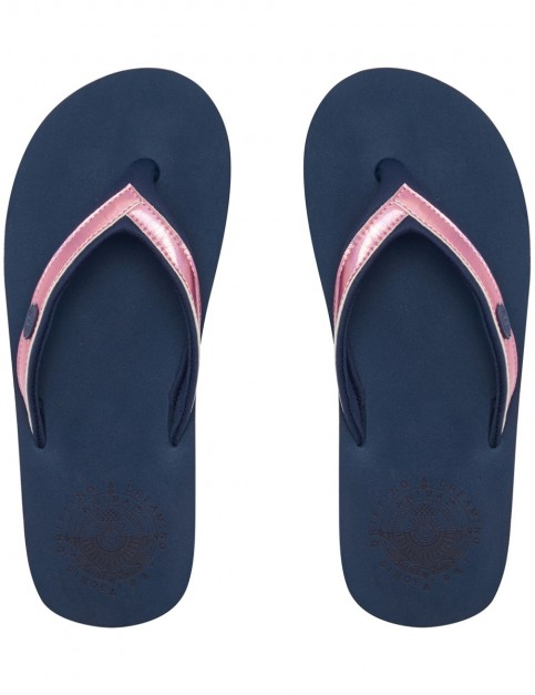 Animal Swish Slim Flip Flops in Dark Navy