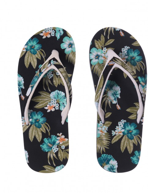 Animal Swish Slim Upper Aop Flip Flops in Black