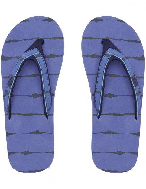 Animal Swish Slim Upper Aop Flip Flops in Dusty Blue