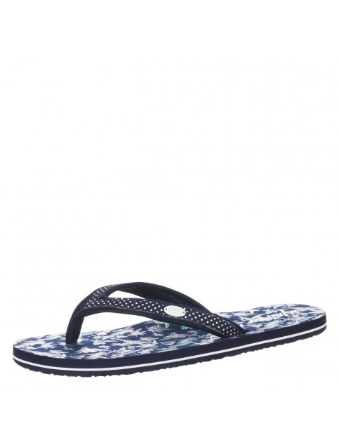 Animal Swish Slim Upper AOP Flip Flops in Navy