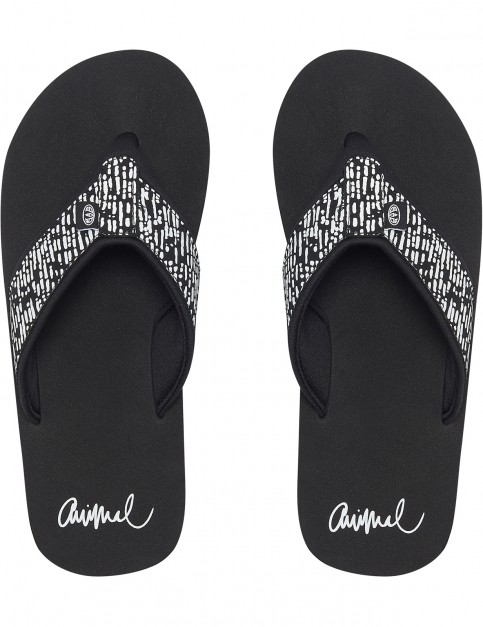 Animal Swish Upper AOP Flip Flops in Filanium Grey