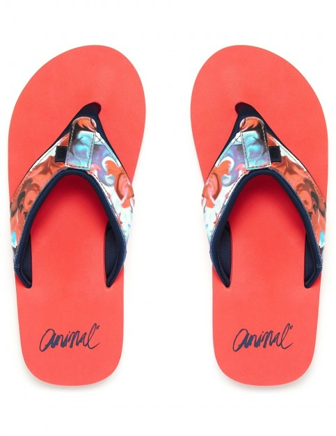 Animal Swish Upper AOP Flip Flops in Paradise Pink