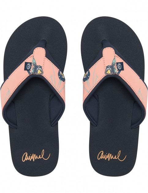 Animal Swish Upper AOP Flip Flops in Sunset Pink