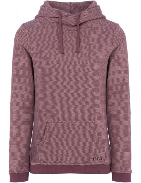 Animal Tahitian Swirl Pullover Hoody in Dusty Mauve Purple
