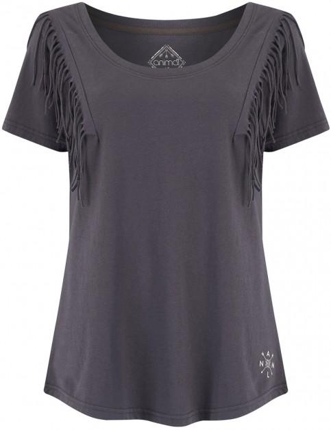 Animal Tassles Short Sleeve T-Shirt in Asphalt Grey