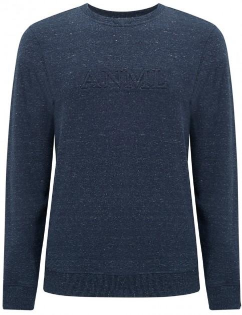 Animal Text Sweatshirt in Dark Navy Marl