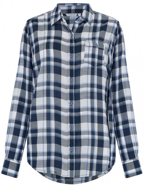 Animal Thali Long Sleeve Shirt in Dusty Blue
