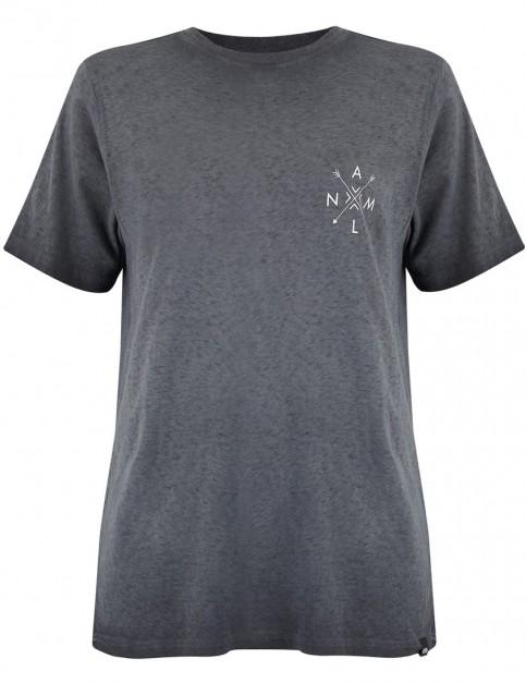 Animal Time Flies Short Sleeve T-Shirt in Black