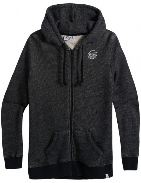 Animal Trailz Zipped Hoody in Black Marl