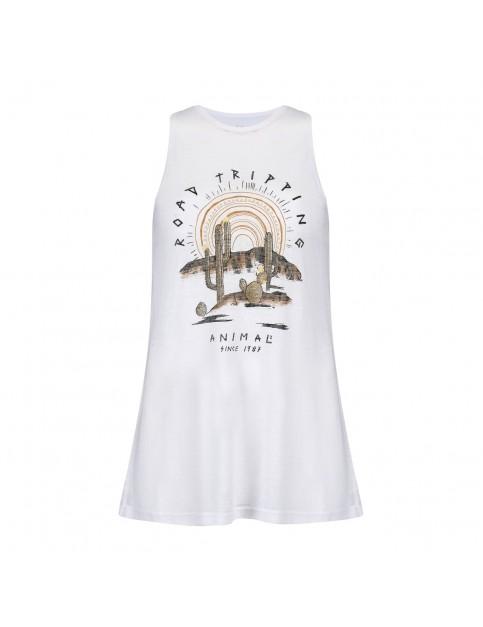 Animal Tritan Sleeveless T-Shirt in White