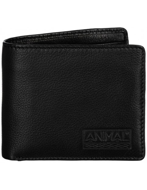 Animal Turmoil Leather Wallet in Black