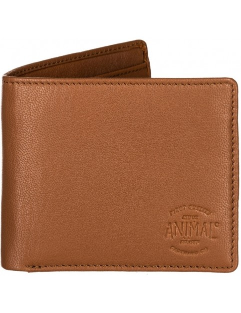 Animal Turmoil Leather Wallet in Tan