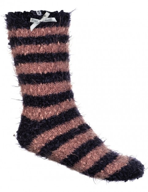 Animal Velvet Adella Crew Socks in Dark Navy