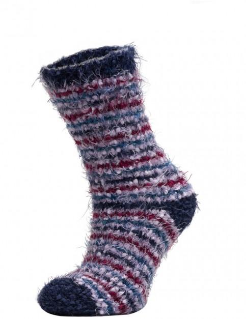 Animal Velvet Adella Socks in Ink Blue