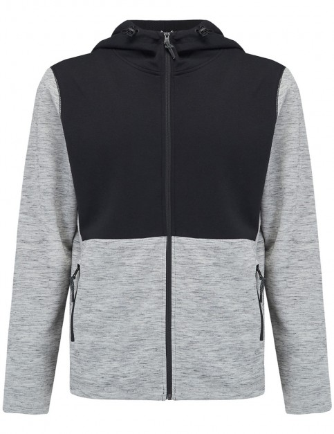 Animal Westland Zipped Hoody in Light Grey Marl