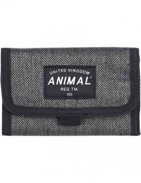 Animal Wile Polyester Wallet in Asphalt Grey