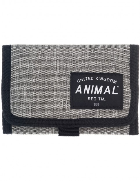 Animal Wile Polyester Wallet in Steel Grey