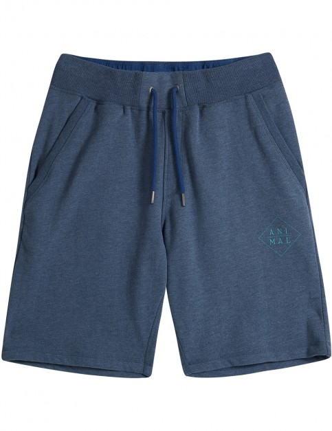 Animal Wilkin Track Shorts in Dark Navy Marl