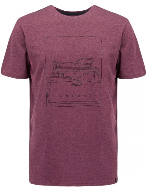 Animal Woody Short Sleeve T-Shirt in Mauve Purple Marl
