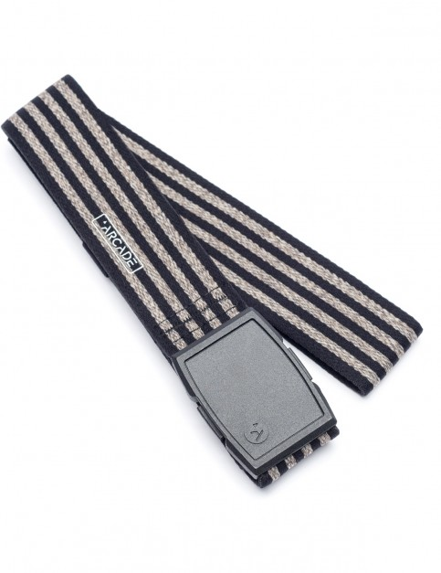 Arcade Don Carlos Webbing Belt in Black/Oatmeal