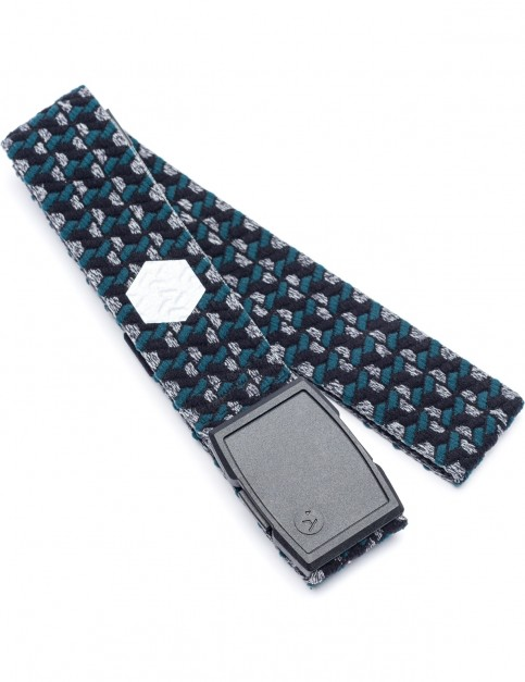 Arcade Geo Webbing Belt in Heather Black