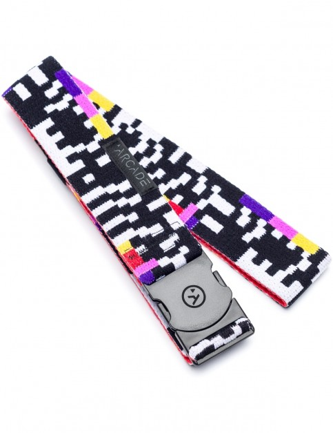 Arcade Glitch Webbing Belt in Black/White