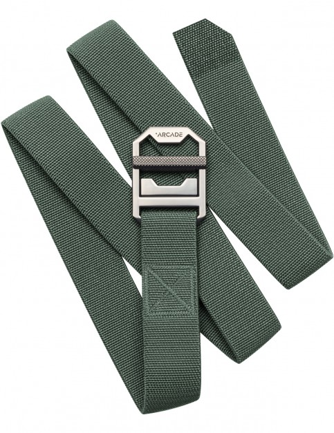 Arcade Guide Slim Webbing Belt in Ivy Green
