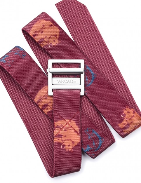 Arcade Guide Webbing Belt in Burgundy
