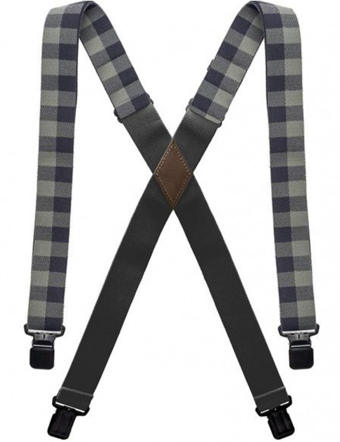 Arcade Jessup Trouser Braces in Black/Ivy Green