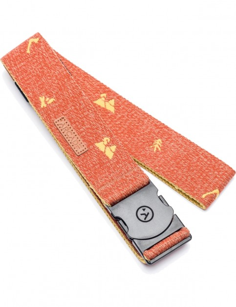 Arcade Packer Webbing Belt in Red/Khaki