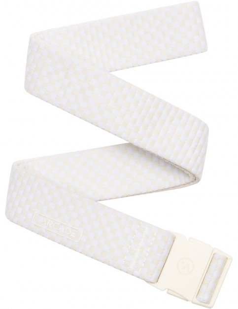Arcade Pronto Slim Webbing Belt in Cream/White