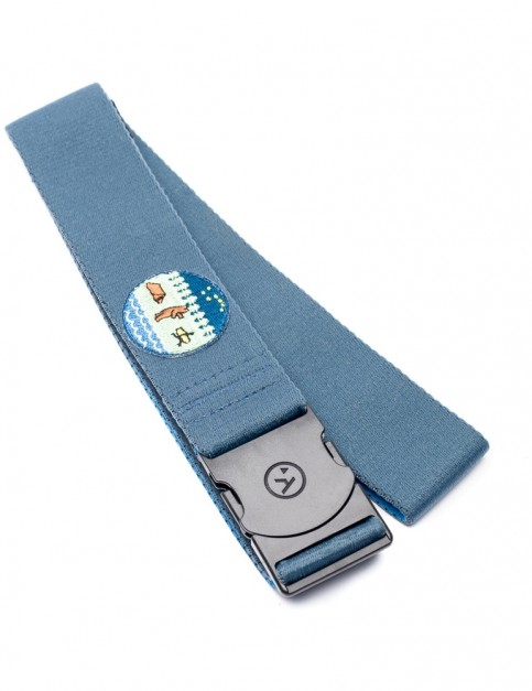 Arcade Rambler Jonas Webbing Belt in Blue/Forest