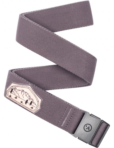 Arcade Rambler Slim Webbing Belt in Purple/Tent