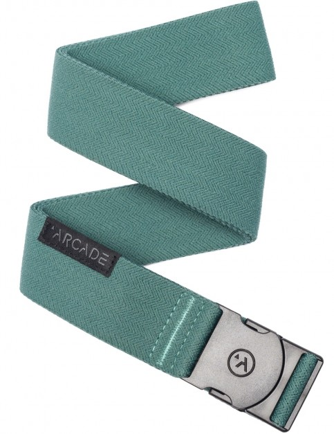 Arcade Ranger Webbing Belt in Dorado Green