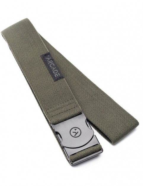 Arcade Ranger Webbing Belt in Olive/Green