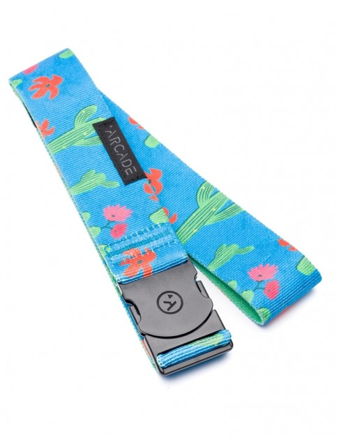 Arcade Scottsdale Webbing Belt in Blue/Cactus
