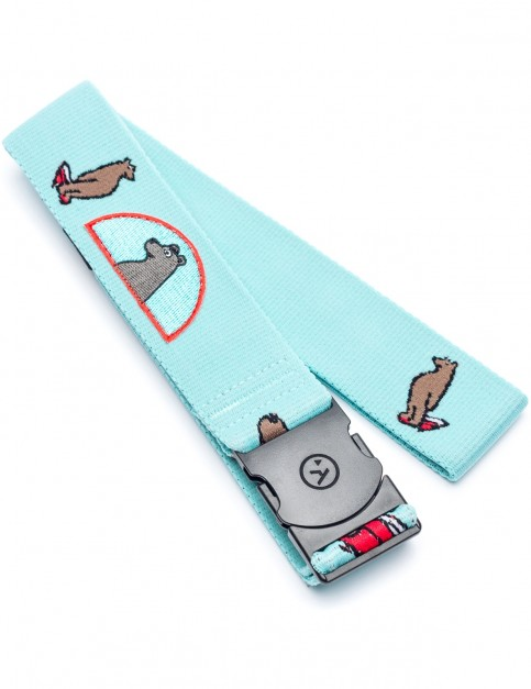 Arcade Surfing Bear Webbing Belt in Teal