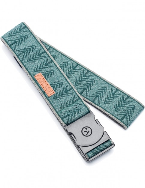 Arcade Timber Webbing Belt in Green/Grey