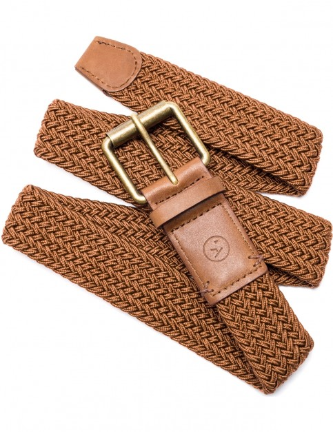 Arcade Hudson Webbing Belt in Brown/Caramel